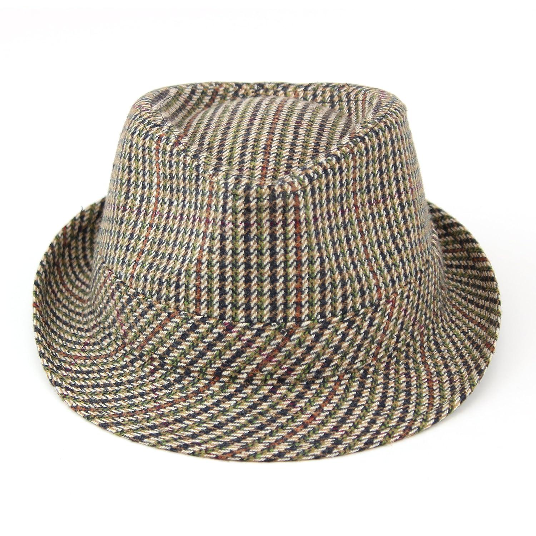 487ea4cb8ef73 Hawkins Classic Tweed Trilby Hat  Amazon.co.uk  Clothing