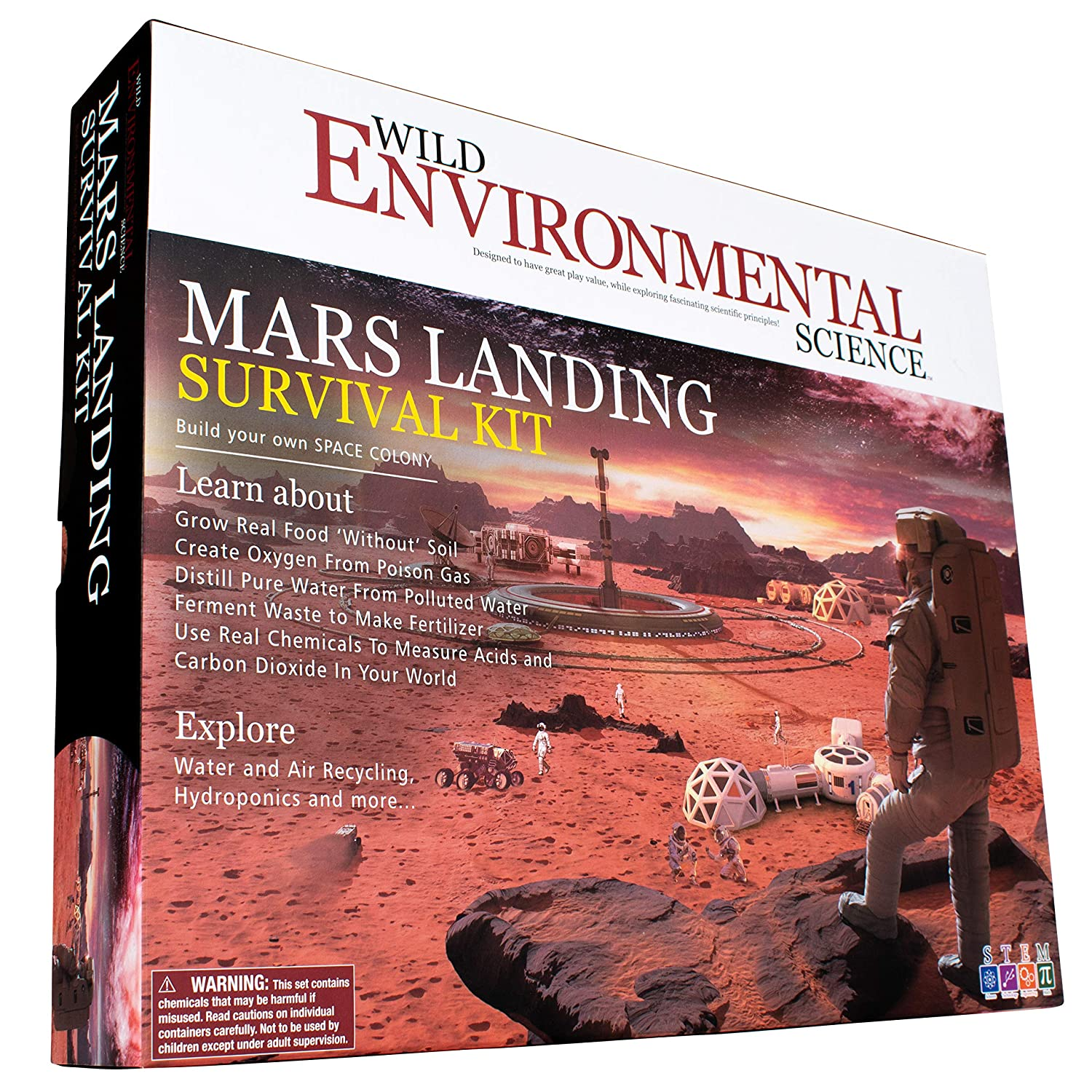 Wild! Science-WES32XL Environmental Science Mars Landing Survival Kit - Home STEM Kit - Ages 8+ - Grow Food & Build an Earth-Like Environment on Mars