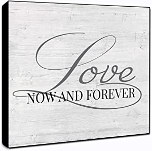 """LACOFFIO Love Now and Forever Wall Art Décor Plaque 6"""" x 6"""