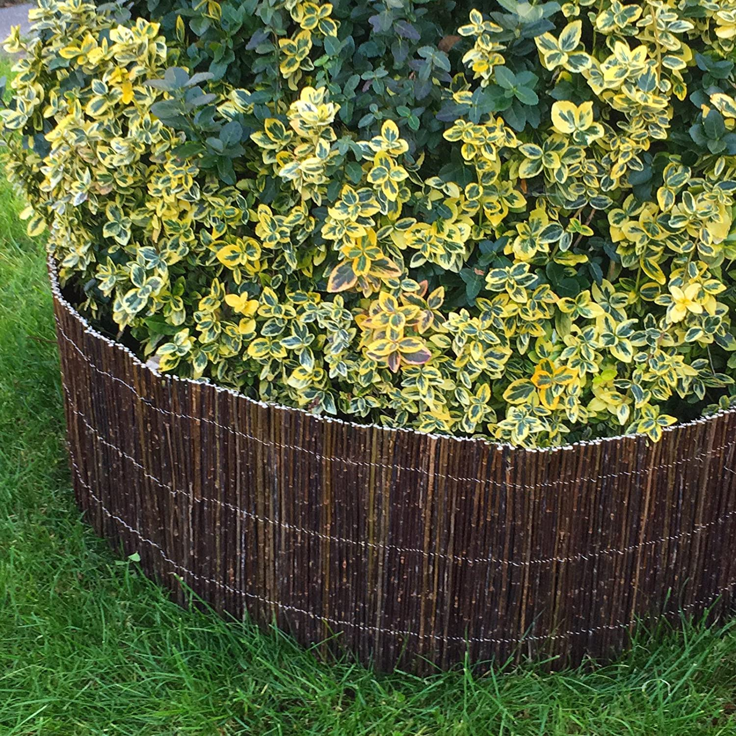 BooGardi bed-framing of willow (height: 30 cm/length: 3 m) · new, variable bed edging in 2 sizes · willow fence for bed border or way demarcation