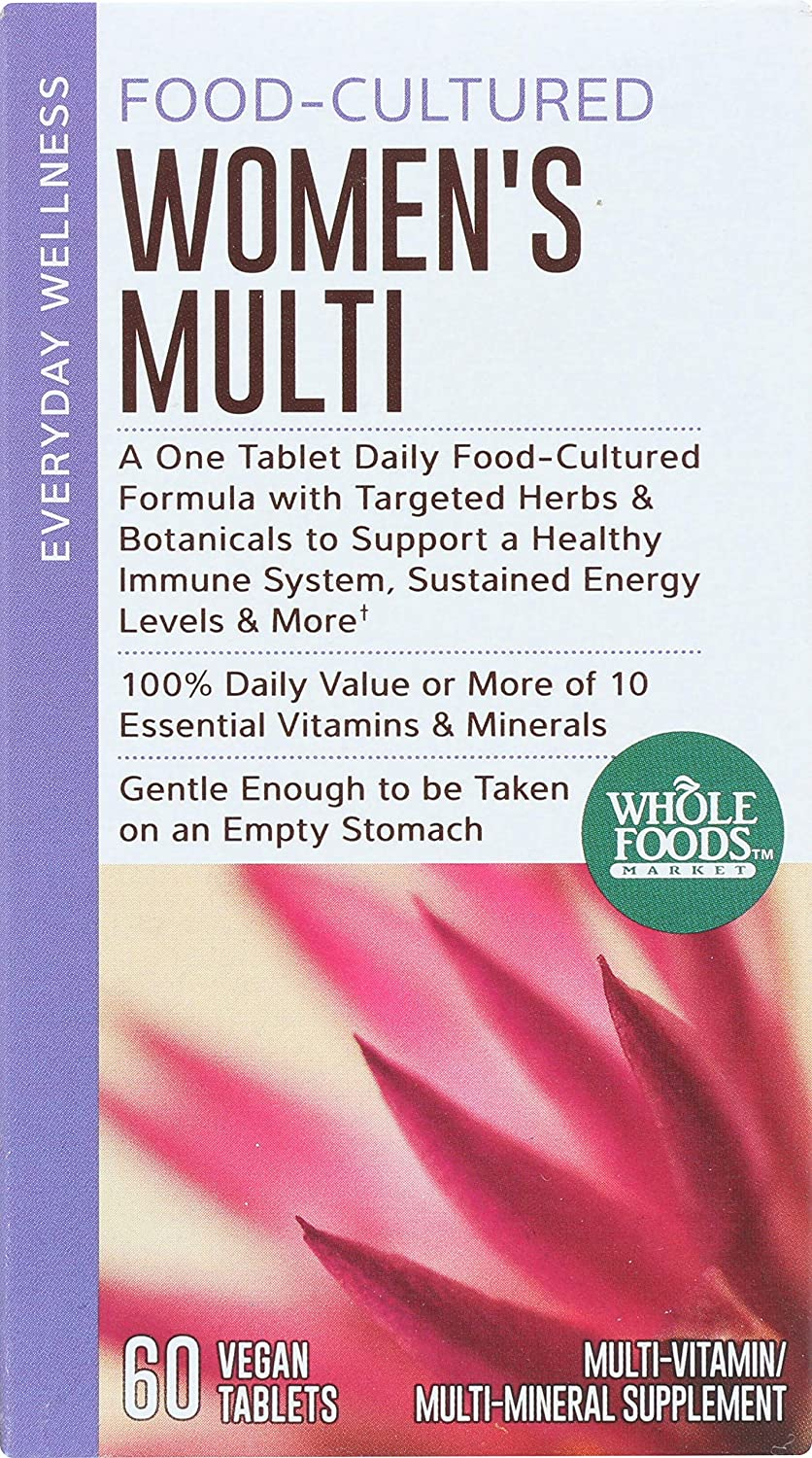 Whole Foods Market, Food-Cultured Women s Multi, 60 ct