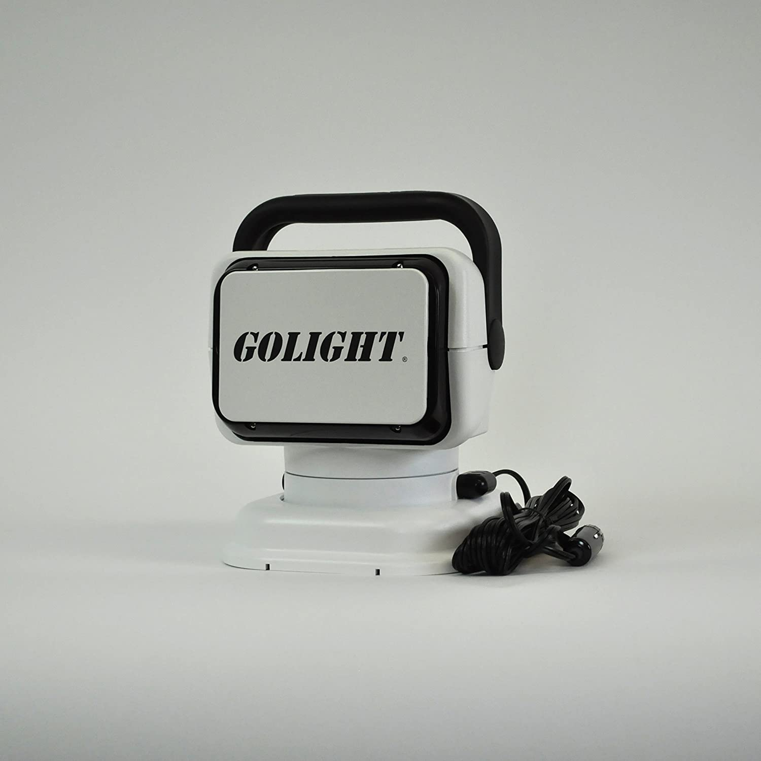 GoLight RadioRay Portable Searchlight with Magnetic Shoe, White : Boating Spotlights : Sports & Outdoors