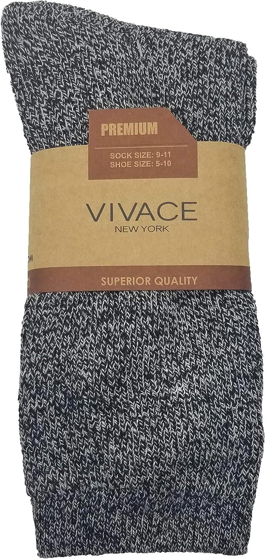 Twisted Yarn Heavy Duty Heat Insulating Hiking Winter Sock 6 Pairs Mens Merino Wool Socks