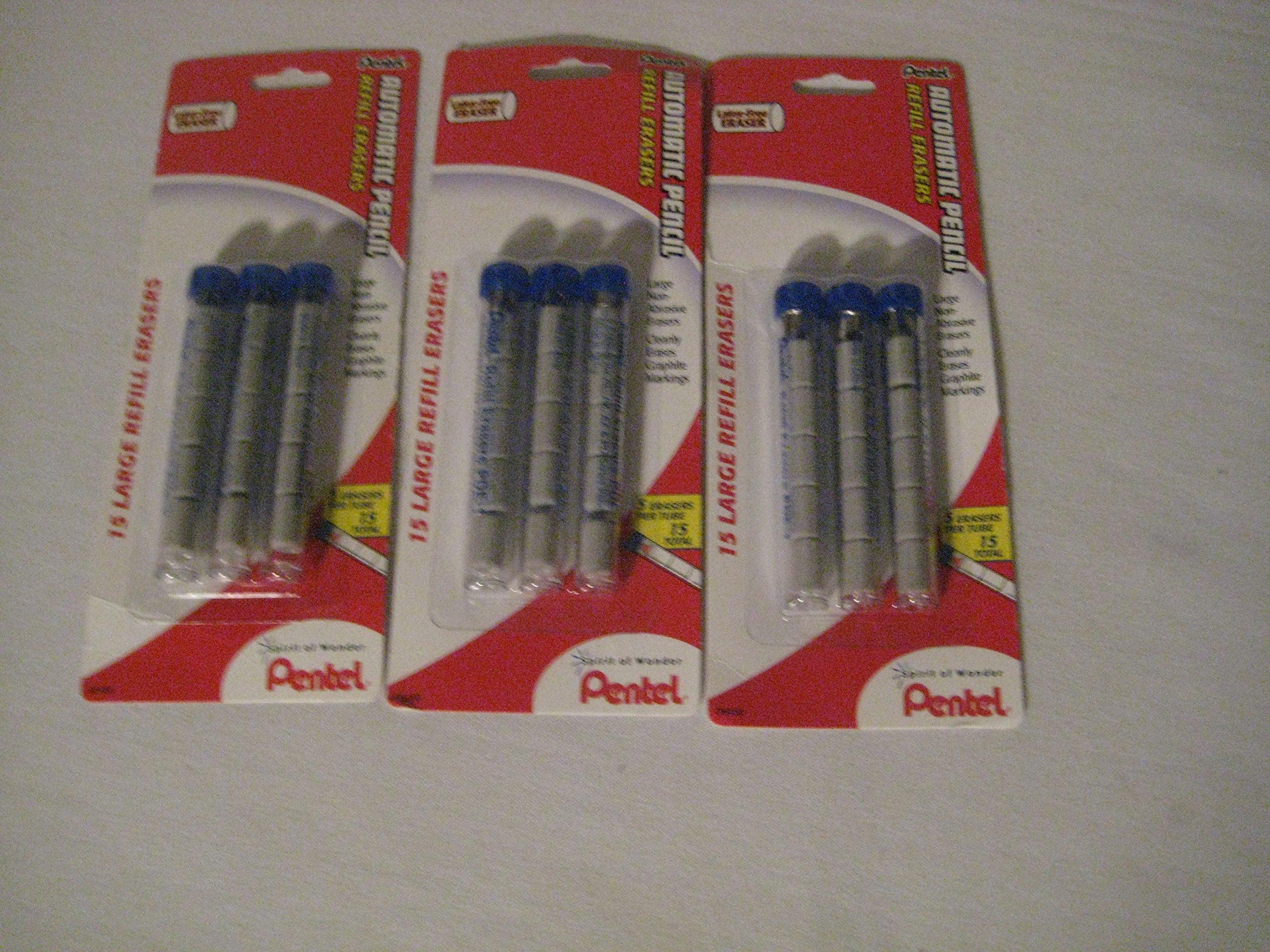 Pentel (R) Quicker Clicker Eraser Refills (3 pack) by Pentel (Image #1)