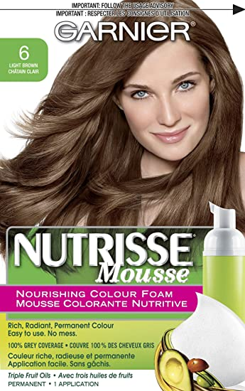 Amazon Garnier Nutrisse Nourishing Color Foam Light Brown
