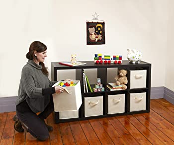 Set-of-6 B&C Dual Handle Storage Cubes