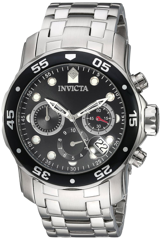 Amazon.com: Invicta Mens Pro Diver Quartz Stainless Steel Watch, Color:Silver-Toned (Model: 21920): Invicta: Watches