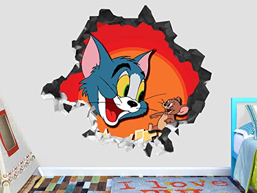 Tom Y Jerry Vinilo Etiquetas De Pared Wall Decals