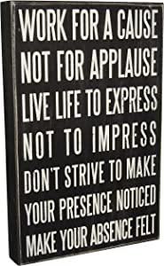 "Primitives by Kathy Classic Box Sign, 10"" x 15"", Live Life"