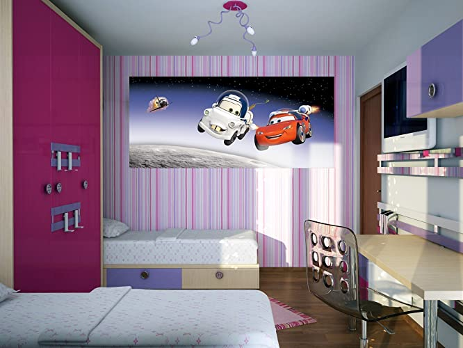 WallandMore Disney Cars Wall Decal Mural For Boys Room Decor 79.5u0026quot; W  By 35.5u0026quot;