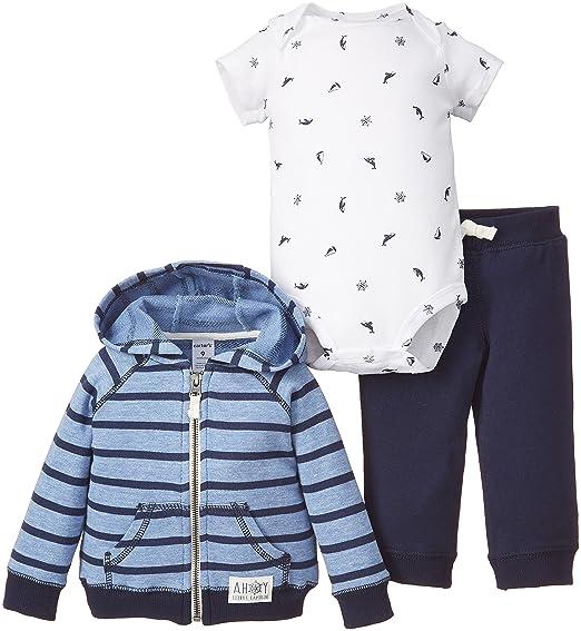 f9e01e45fea4 Amazon.com  Carter s Baby Boys 3-Piece Nautical Bodysuit Cardigan ...