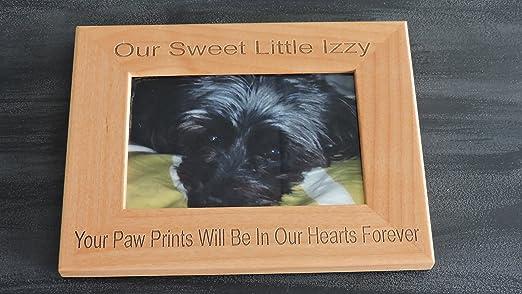 Dog Memorial  black glass photo frame  personalised gift keepsake #10