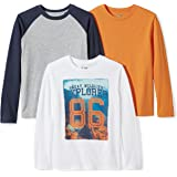 Spotted Zebra Boys' 3-Pack Long-Sleeve T-Shirts