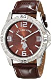 U.S. Polo Assn. Classic Men's USC50227 Silver-Tone Watch with Faux-Leather Band