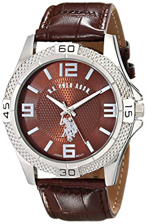 leather watches forever browngold brown gallery faux watch accessories lyst chronograph normal in product