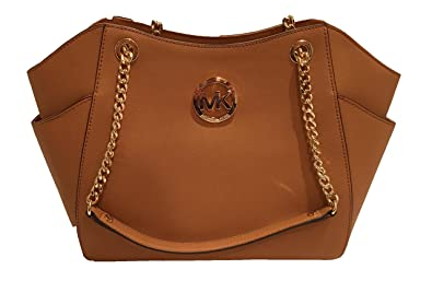6684d5735eb6 Amazon.com  Michael Kors Jet Set Travel Large Chain Shoulder Tote Handbag   Shoes