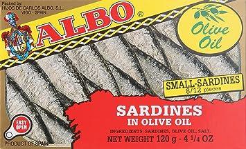 Delicias de Espana, Small Sardines in Olive Oil (Sardinillas en Aceite de Oliva)