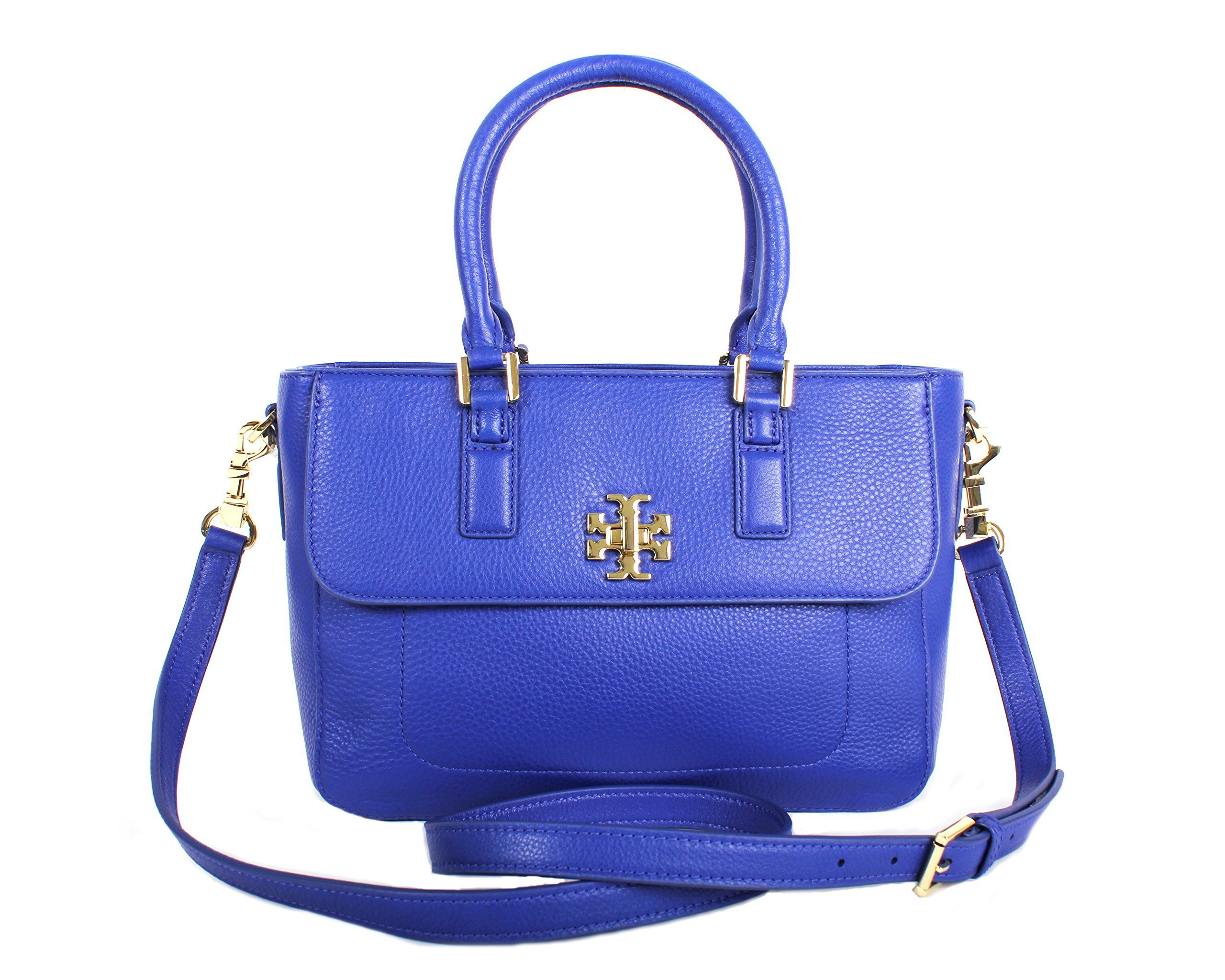 Tory Burch Mercer Mini Satchel in Pebbled Leather, Style No. 31384 (Macaw)