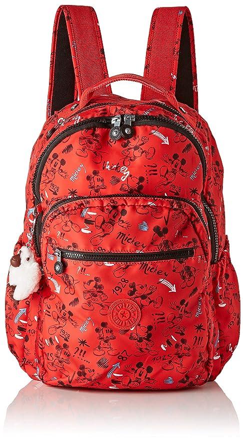 Kipling D Seoul GO Mochila Escolar, 44 cm, 27 Liters, (Sketch Red