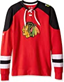 "Chicago Blackhawks Majestic NHL ""Centre"" Men's Pullover Crew Sweatshirt"