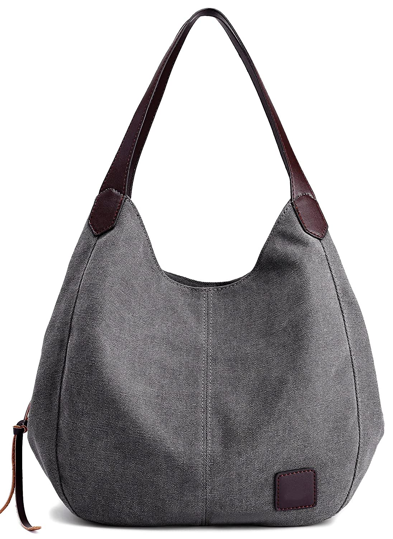 a4ba7f4b88d047 DCCN Canvas Tasche Damen Shopper Bag Handtasche Hobo Bag Grau: Amazon.de:  Koffer, Rucksäcke & Taschen