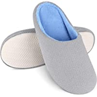 Bergman Kelly Memory Foam Slippers for Women & Men, Cush Collection (Multiple Colours & Sizes), Cotton/Polyester/Spandex…