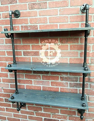 Steampunk Furniture,pipe Bookshelf, Bookshelves, Industrial Shelves,  Industrial Shelfs, Pipe Shelf