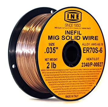 INEFIL ER70S-6 .035-Inch on 2-Pound Spool Carbon Steel Mig Solid ...