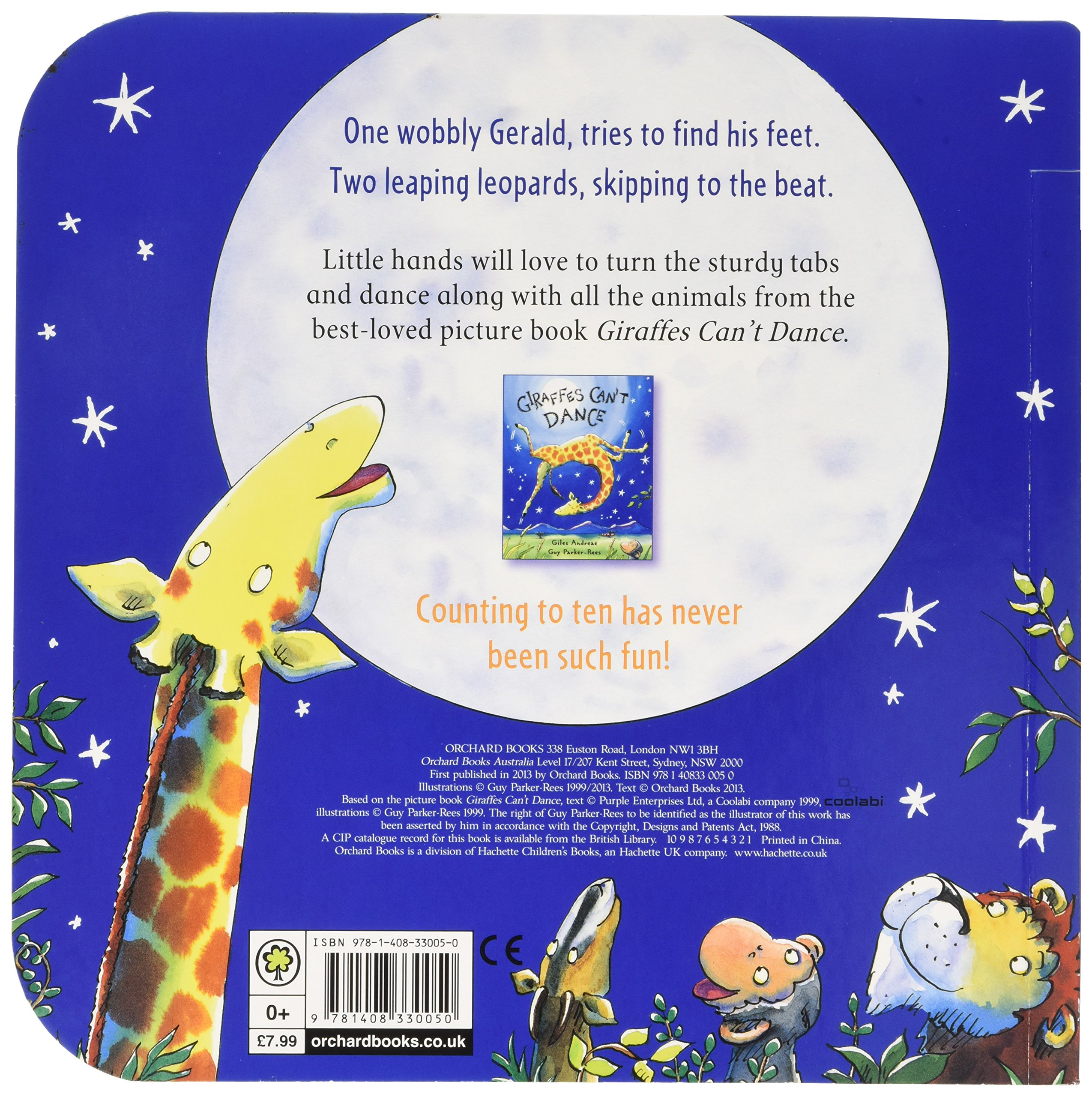 Giraffes Cant Dance Number Rumba Tabbed Board Book Giles Andreae