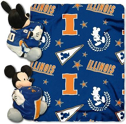 Blue Disney Mickey Mouse reversible fleece blanketthrow licensed