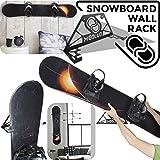 Supporto da parete snowboard portasnowboard (100% Acciaio) (Nero)