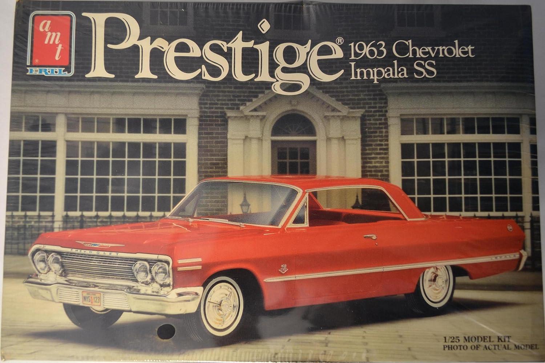 Amazon.com: 1963 Chevrolet Impala SS 1:25 Model Car Kit AMT-ERTL ...