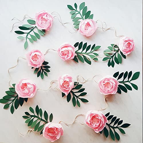 Amazon paper flower garland teepee flowers crepe paper paper flower garland teepee flowers crepe paper peonies girl nursery room decor mightylinksfo