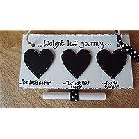 Chalkboard Weight loss journey sign weight watchers diet sign slimming world plaque