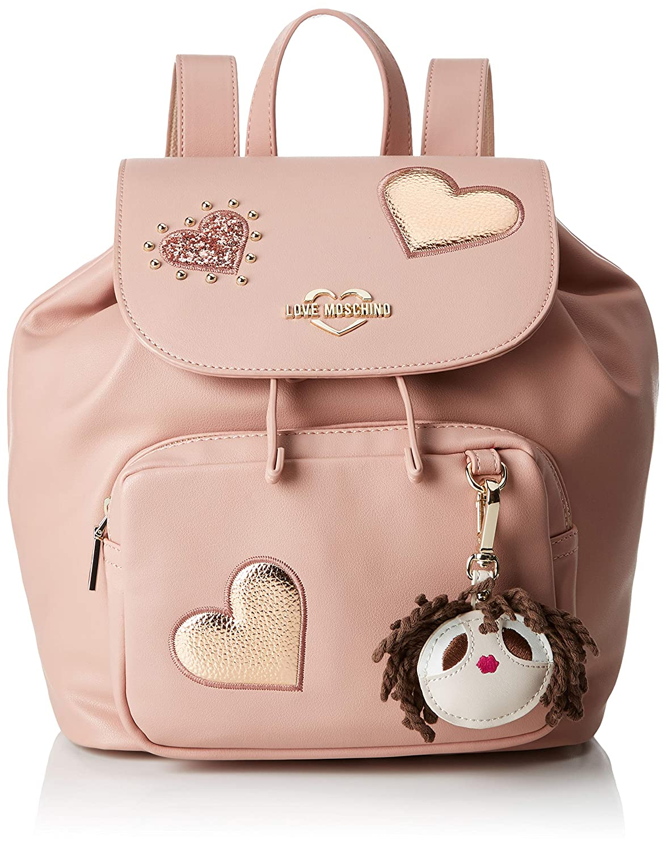 Love moschino grain pu borsa a zainetto donna amazon shoes rosa zaini da donna