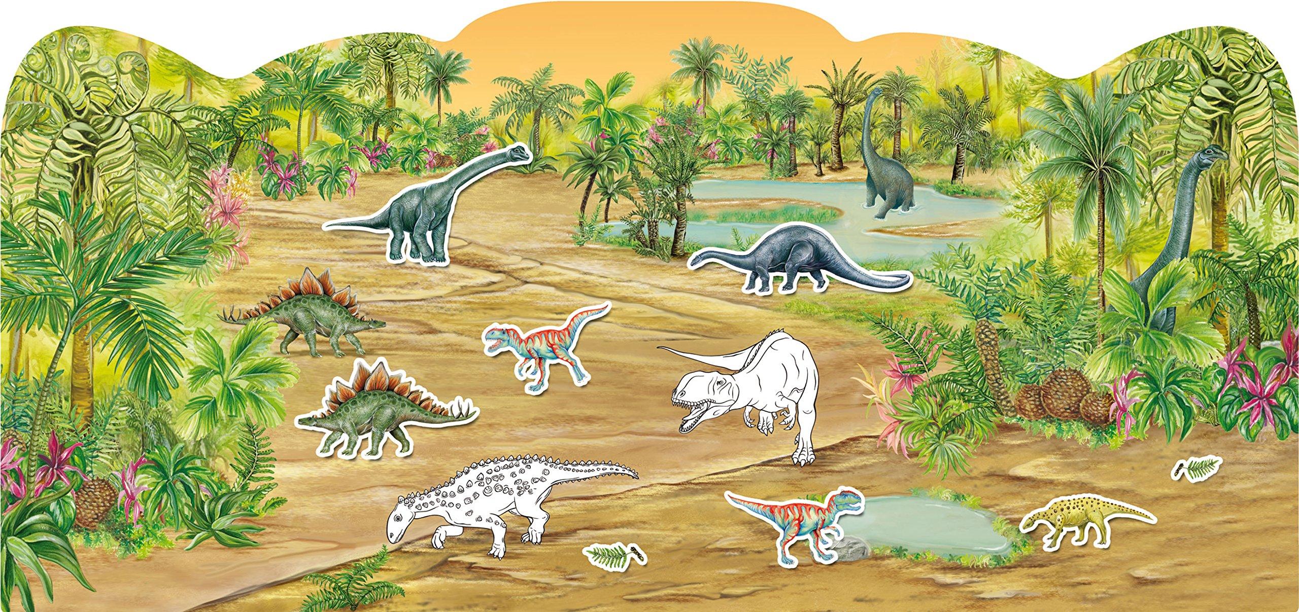 Dinosaurier Stickern Malen Gestalten Amazonde Annalisa Und