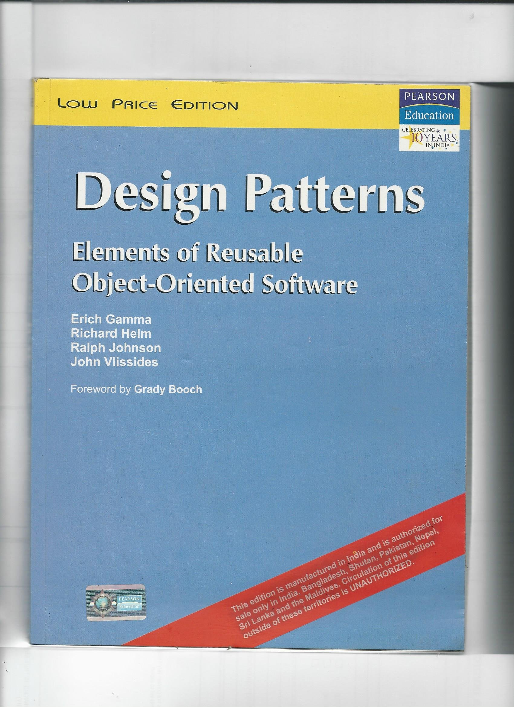 Buy Design Patterns Elements Of Reusable Object Oriented Software Old Edition Book Online At Low Prices In India Design Patterns Elements Of Reusable Object Oriented Software Old Edition Reviews