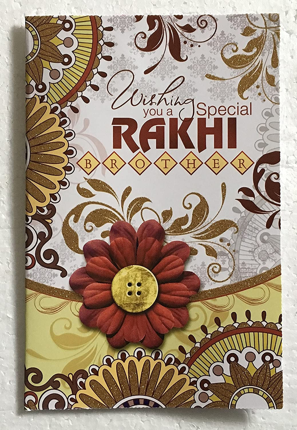 Amazon Rakhi Greeting Card For Raksha Bandhan Indian Festival