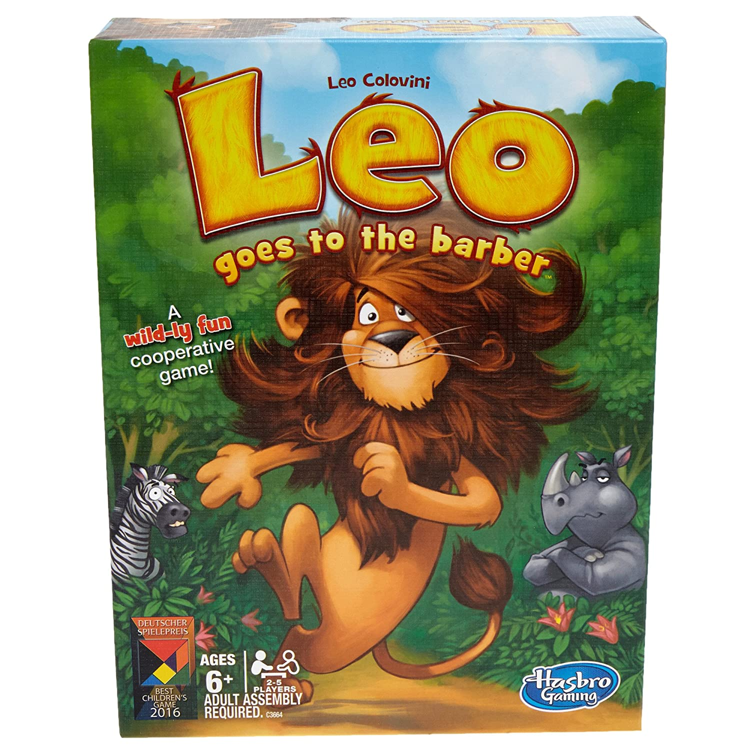 Exclusive Hasbro Games Leo Goes to the Barber Party Board Game C3664