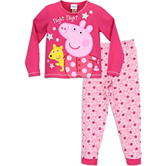 e43a1c72 #3 Peppa Pig Girls Peppa Pig Pyjamas Night Night Peppa Ages 18 Months to 7  Years