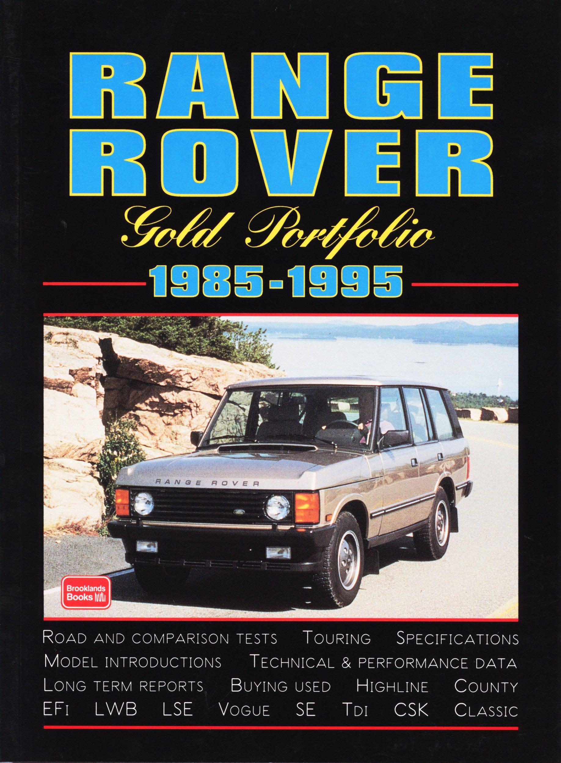Range Rover Gold Portfolio 1985-95 Brooklands Books Road Tests Series: Amazon.es: R. M. Clarke: Libros en idiomas extranjeros
