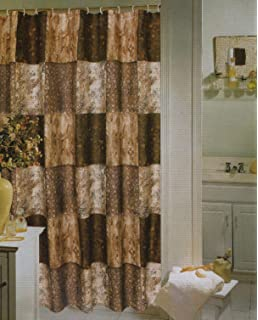 Zambia Patch Fabric Shower Curtain