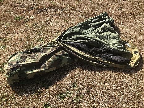 Usgi Modular Sleep System Woodland Camo Sleeping Bag Us Military 3 Pc System Amazon Co Uk Sports Outdoors