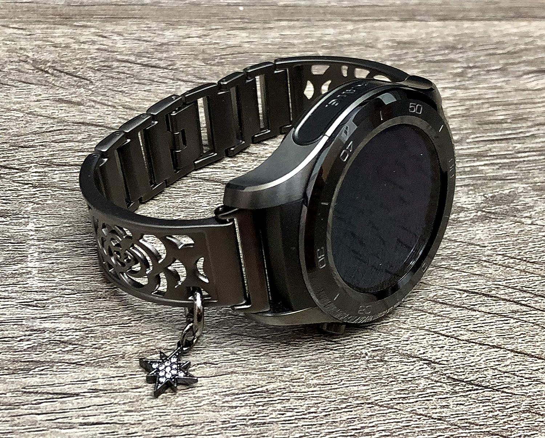 Amazon.com: Brushed Gunmetal Black Bracelet For Huawei Watch ...