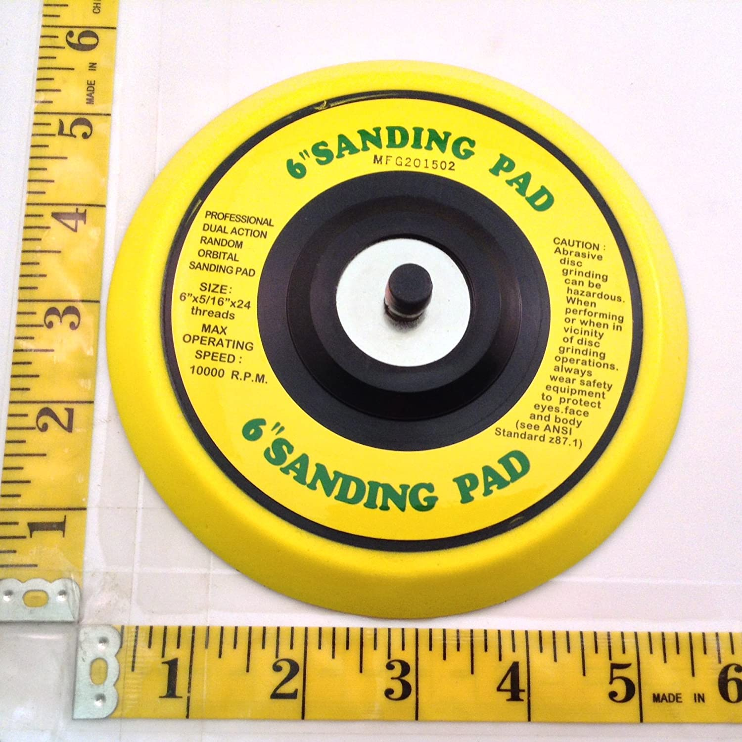 use Sticky Back Discs AES Industries 6 DA Vinyl PSA Face Sanding Pad for Dual Action Sanders