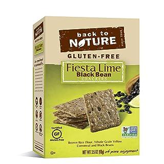 Back to Nature Non-GMO Crackers, Gluten-Free Fiesta Lime Black Bean, 3.5 Ounce