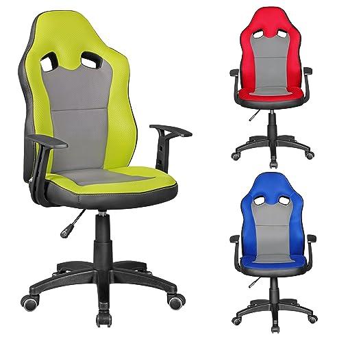 Schreibtischstuhl ergonomisch kinder  FineBuy SAMY - Racing Kinder-Schreibtischstuhl für Kinder ab 8 ...