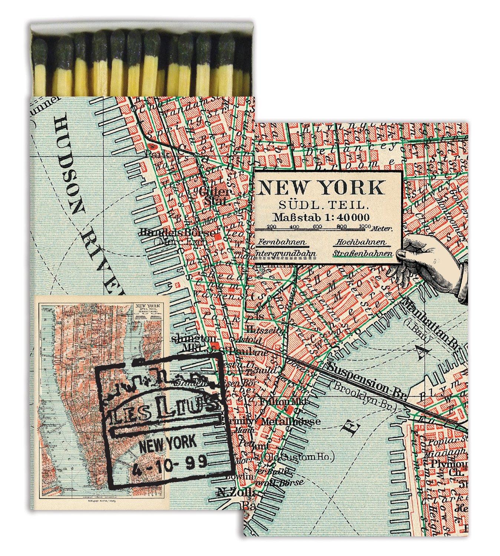 HomArt Matches - Map - New York (Set of 12)