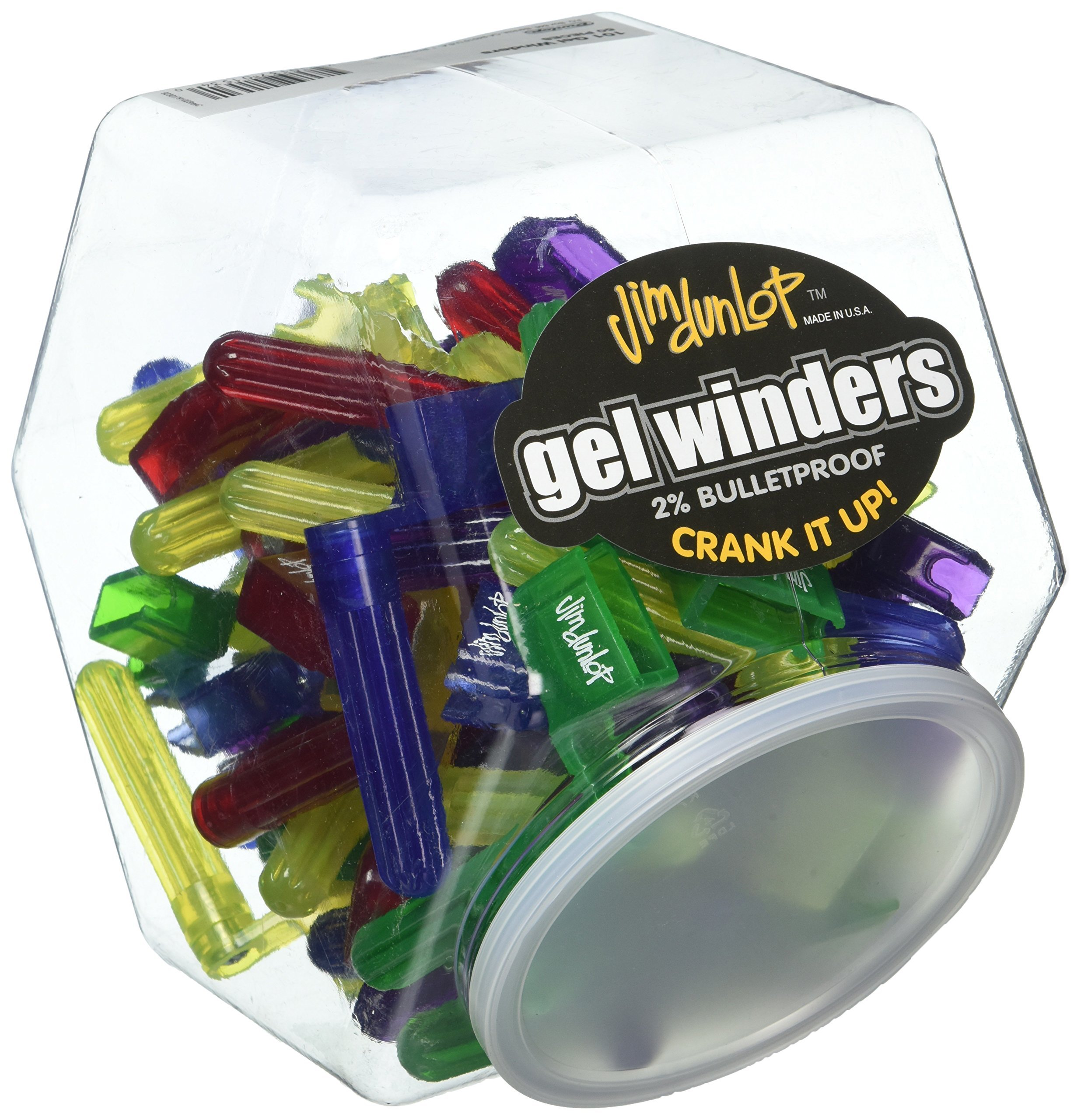Dunlop 101 Gel Pegwinders, Assorted Colors, 50/Jar