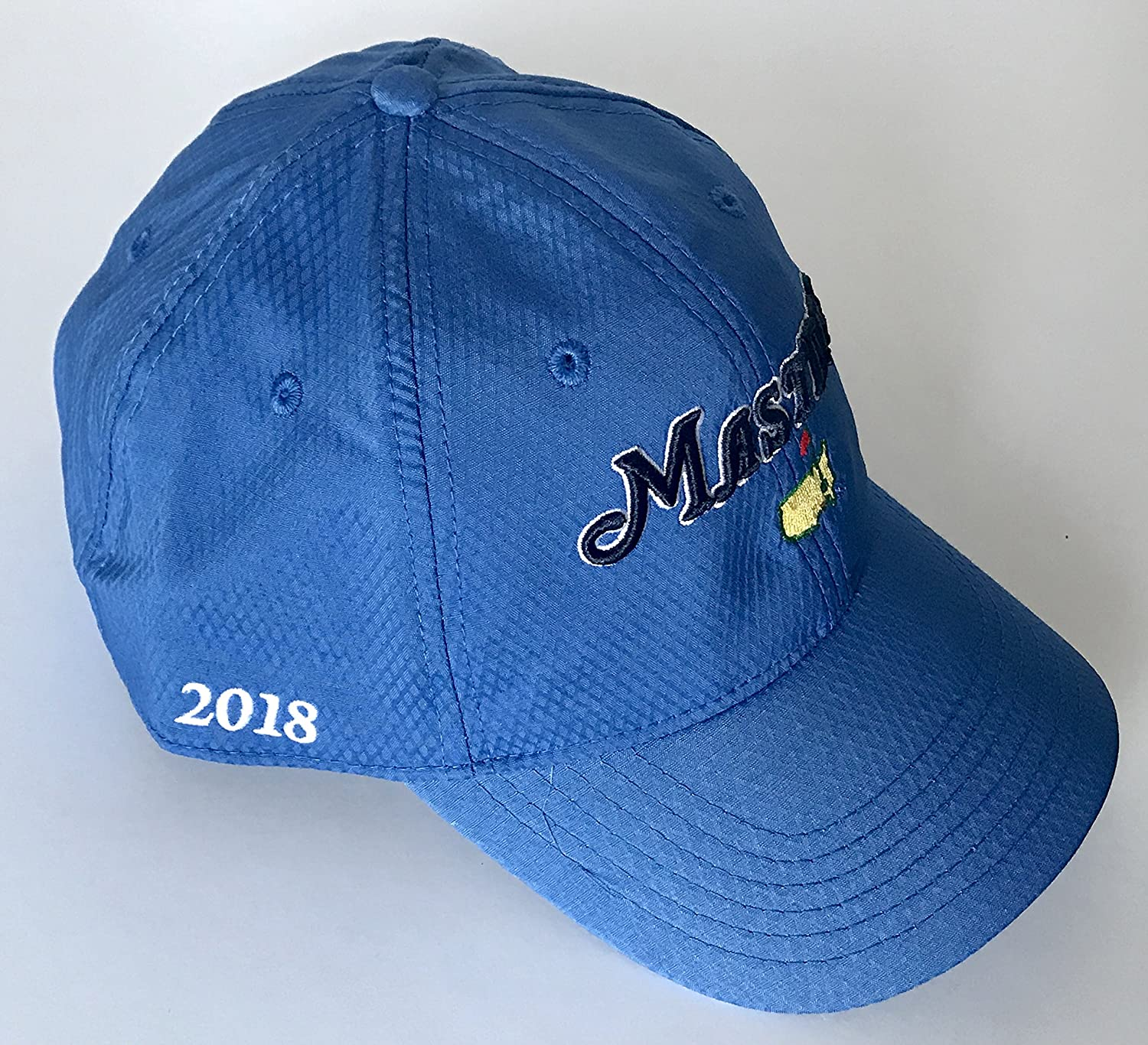e715cb0903f 2018 Masters golf Hat blue performance side dated Augusta National new pga  at Amazon s Sports Collectibles Store